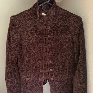 Ann Taylor Loft Purple Velvet Blazer